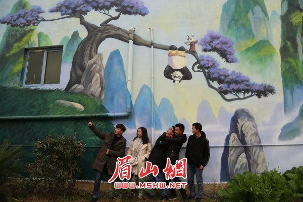 竹林风景墙体彩绘